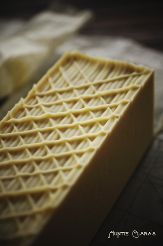 Lattice top on Buttermilk Baby Handcrafted Soap by Auntie Clara's