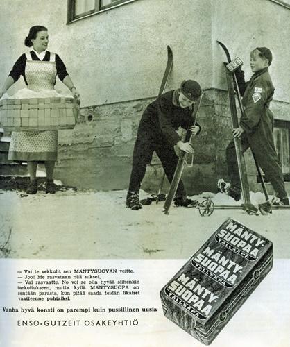 Mäntysuopa advert 1956-1957